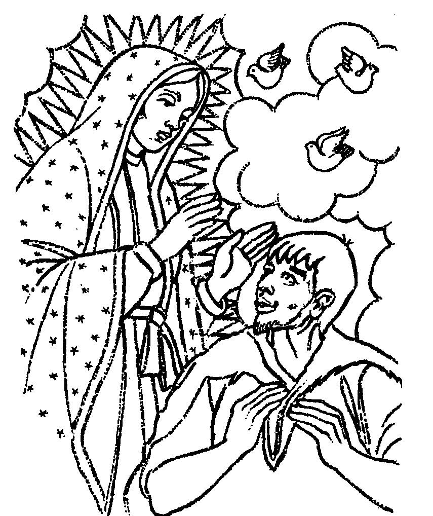 Virgen De Guadalupe Drawing Free Download Best Virgen De