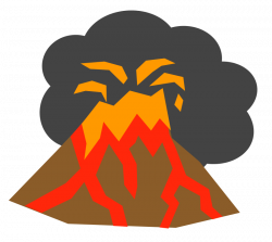 250x223 transparent volcano eruption, picture