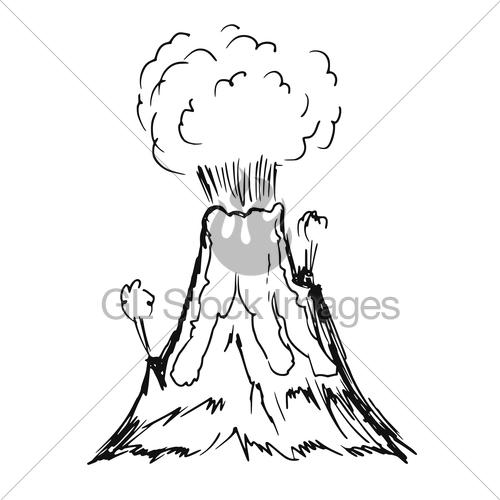 500x500 volcano erupting gl stock images