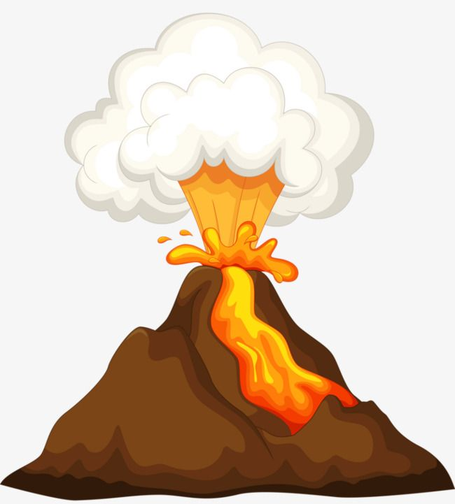 650x721 volcanic eruptions, break out, volcanic, cartoon png image