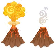 Volcano Drawing Pictures