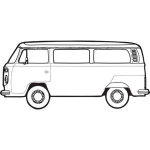 300x300 hippie bus drawing vw bus art, vw bus, vw bus