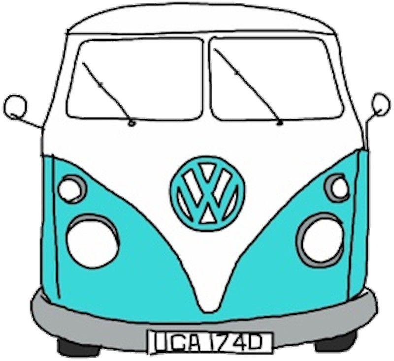 800x734 hippie van sticker in stickers vw bus, vans, van drawing
