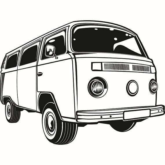 Volkswagen Van Drawing | Free download on ClipArtMag