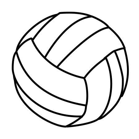 450x450 drawing a cartoon volleyball volleyball cartoon volleyball