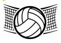 200x140 volleyball net clipart volleyball net drawing
