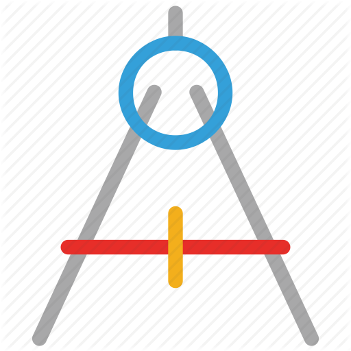 512x512 drawing compass, drawing tool, geometry compass, geometry tool icon
