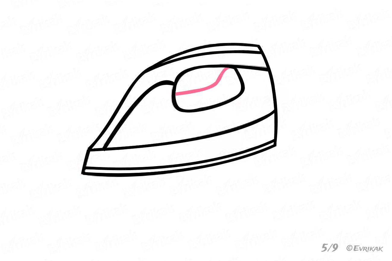 1300x867 How To Draw An Iron Using A Pencil Step