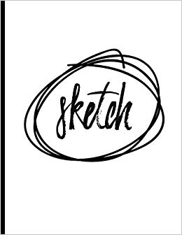 260x336 Sketch Large Sketch Book Journal, Blank Unlined Paper