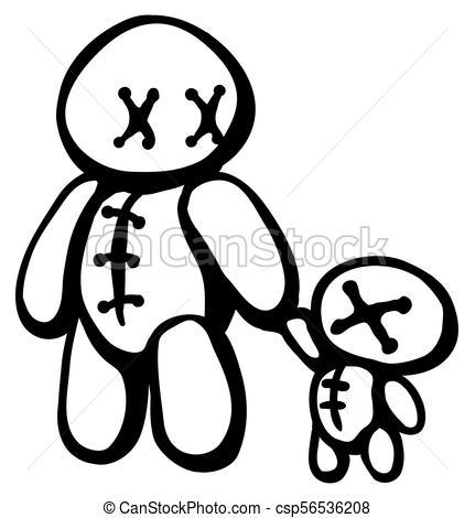 431x470 voodoo doll parent voodoo doll controlling smaller copies line