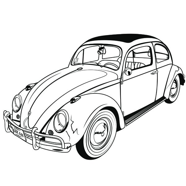 Vw Beetle Drawing
