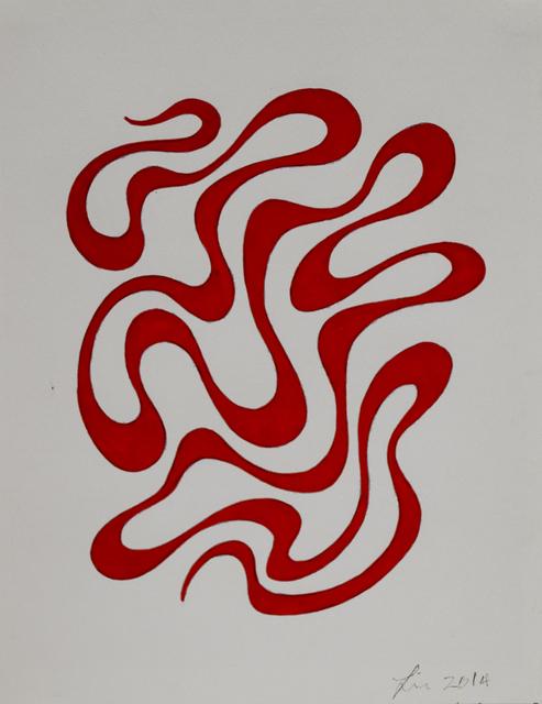 493x640 linda fleming gouache wall drawing
