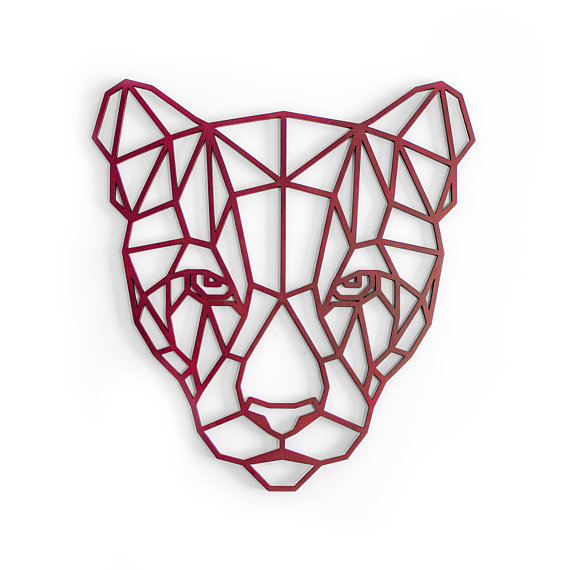 570x570 Cougar Wall Art, Dorm Room Decor, Mountain Lion Art, Zoo Animal