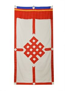 215x300 Tibetan X Cm Cotton Wall Hanging With Auspicious Drawing