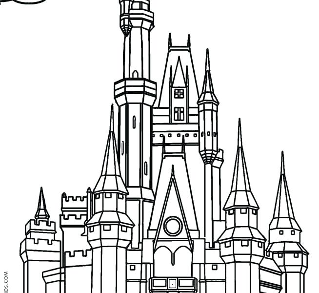 654x600 printable castle castle printable cinderella castle coloring pages