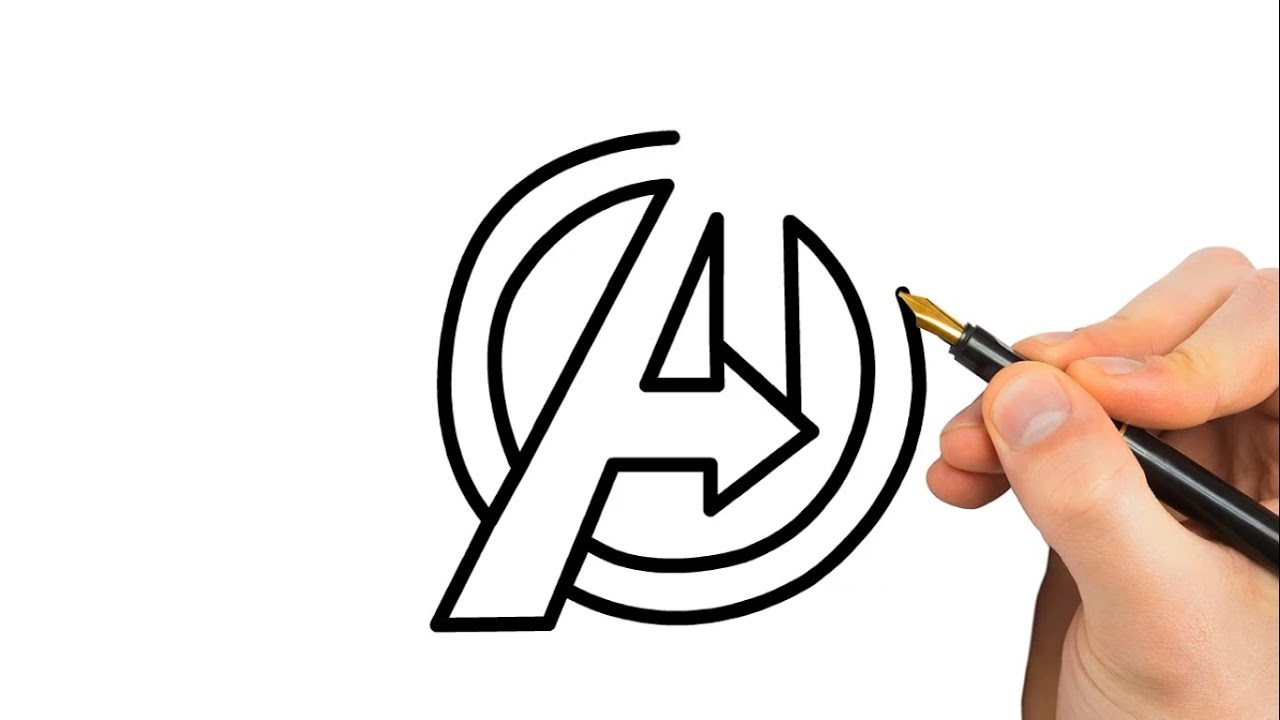 1280x720 Drawing Avengers Infinity War Logo