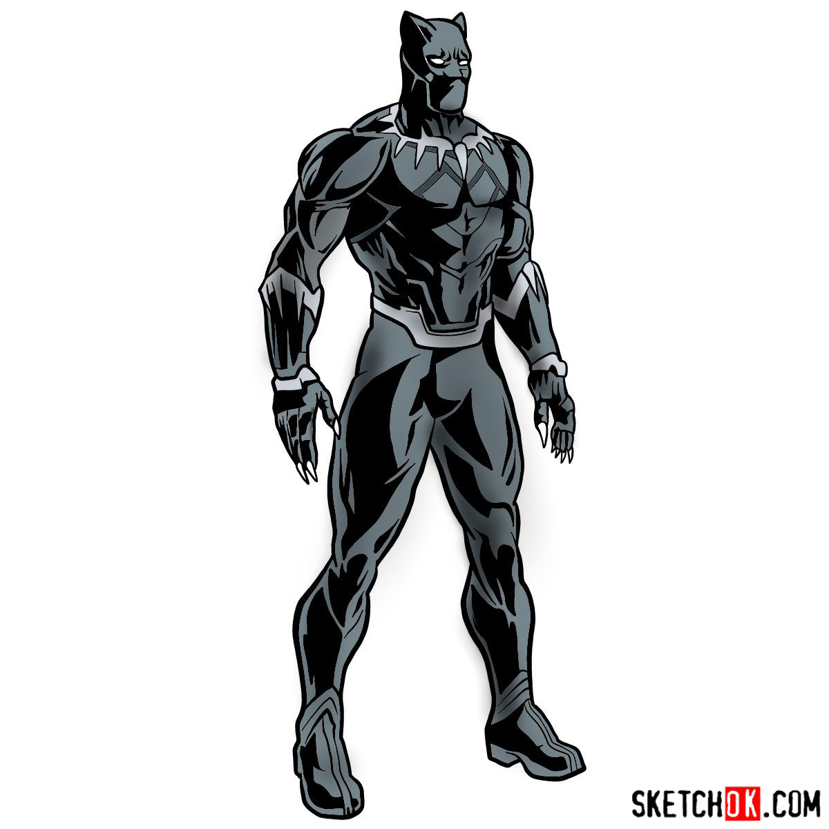 1200x1200 How To Draw Black Panther From Infinity War Film
