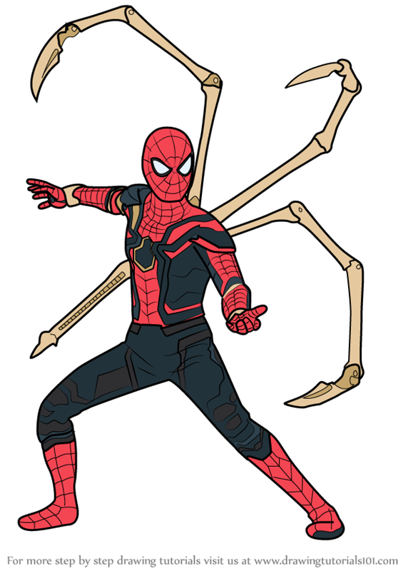 565x800 Learn How To Draw Iron Spider From Avengers