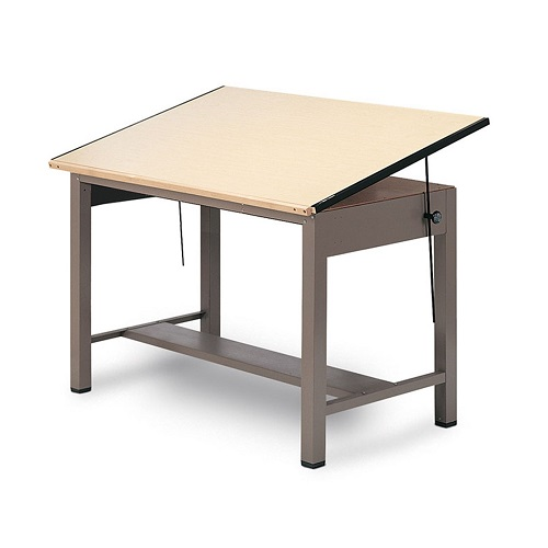 500x500 Mayline Ranger Steel Post Drawing Table