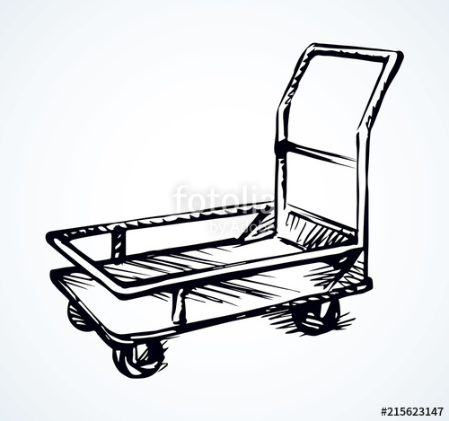 500x469 Warehouse Trolley Vector Drawing Stock Image And Royalty Free