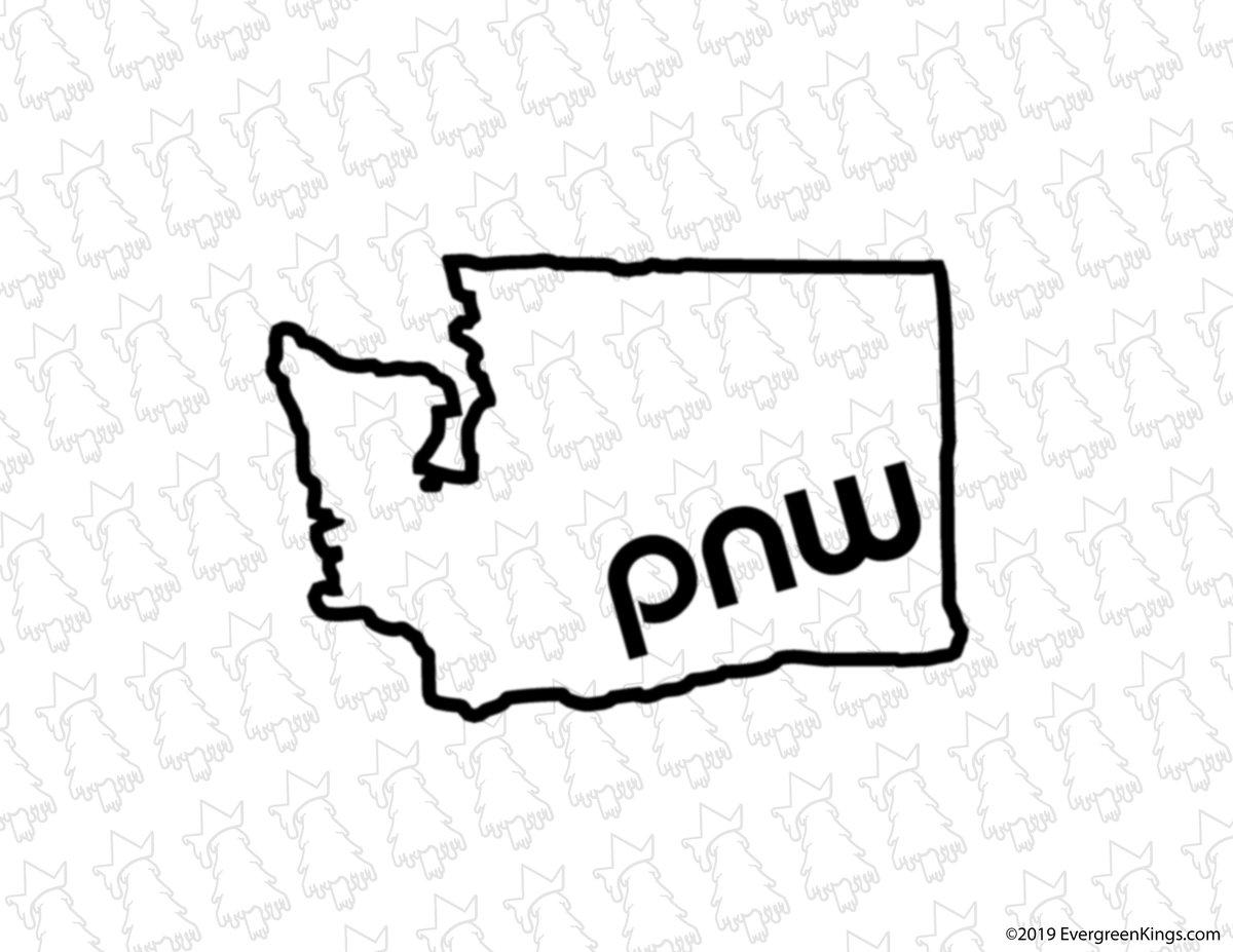 1200x927 Pnw Washington State Decal Northwest Royalty