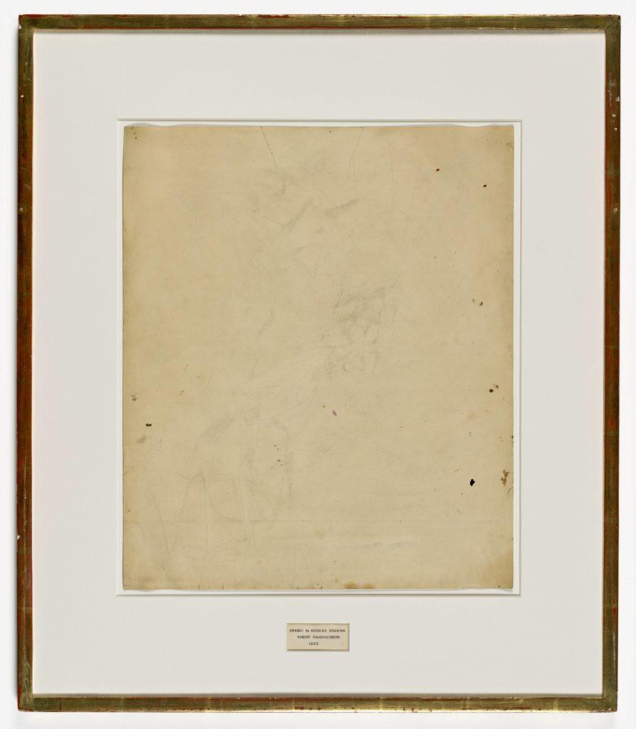 893x1024 Robert Rauschenberg, Erased De Kooning Drawing, Sfmoma