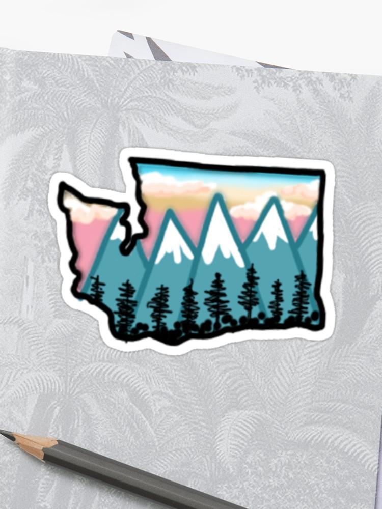 750x1000 Washington State Drawing Sticker