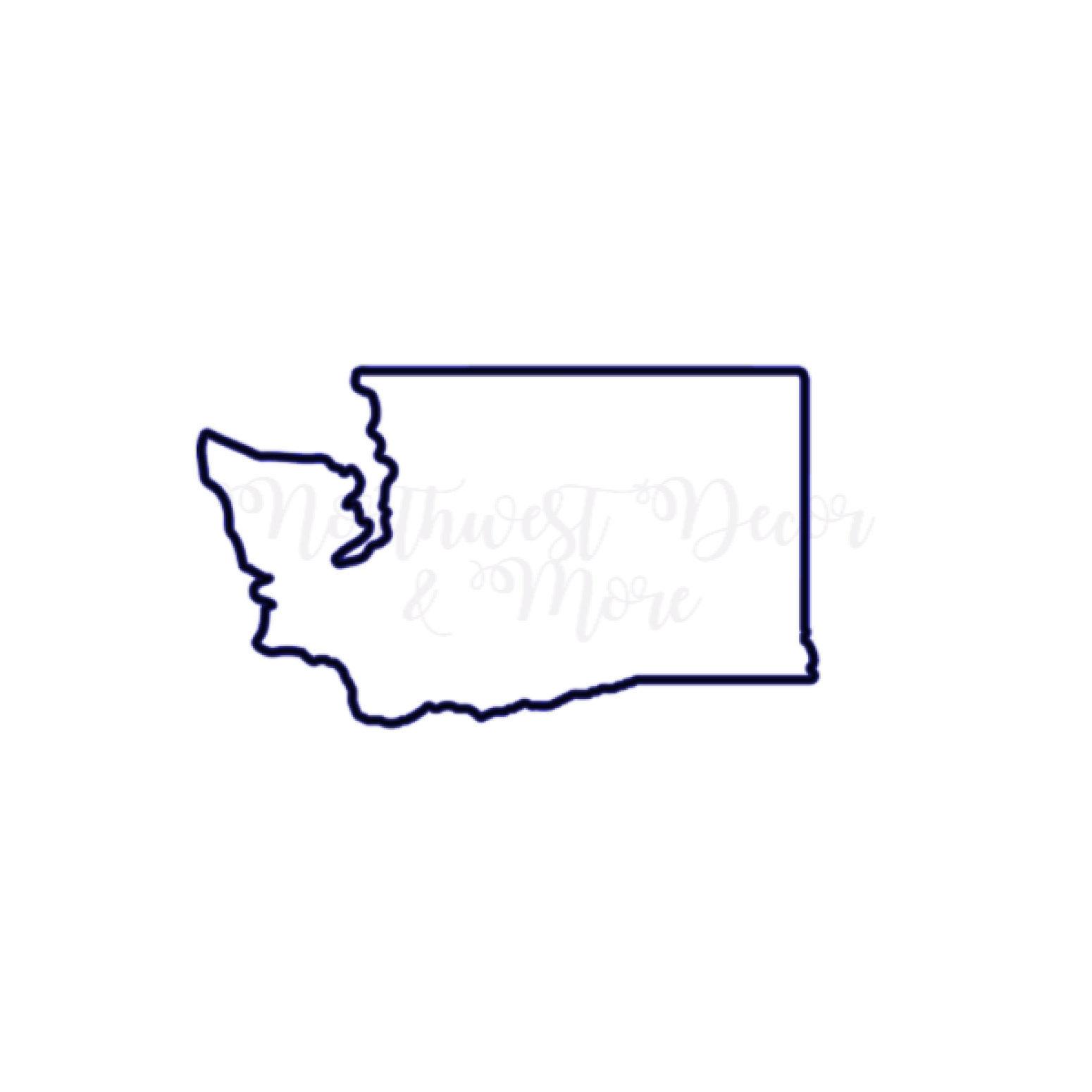 1550x1550 Washington State Cricut Wa State Washington Etsy