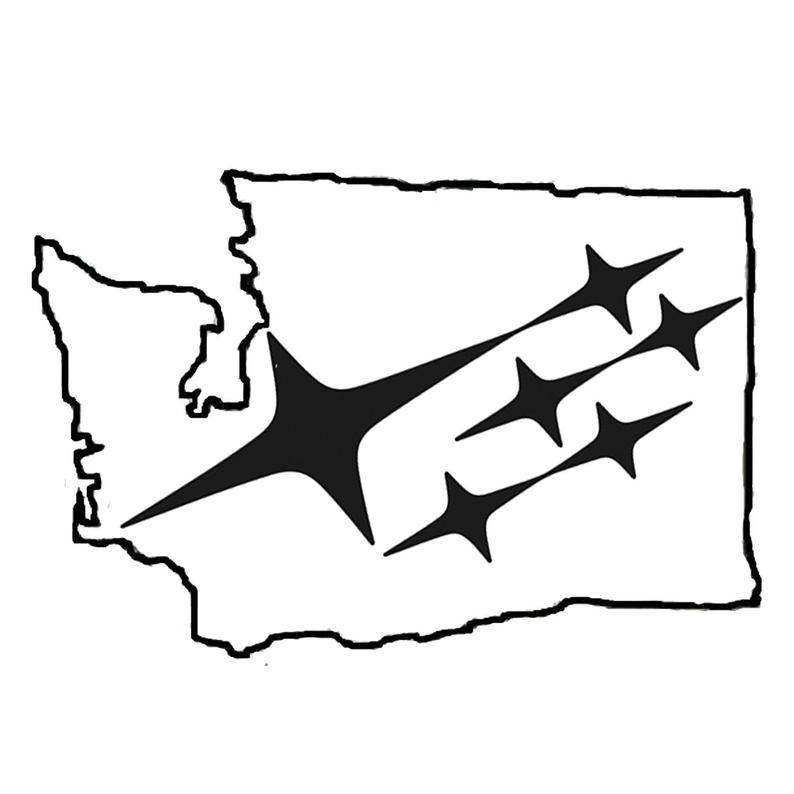 794x794 Washington State Subaru Outline Vinyl Decal Etsy