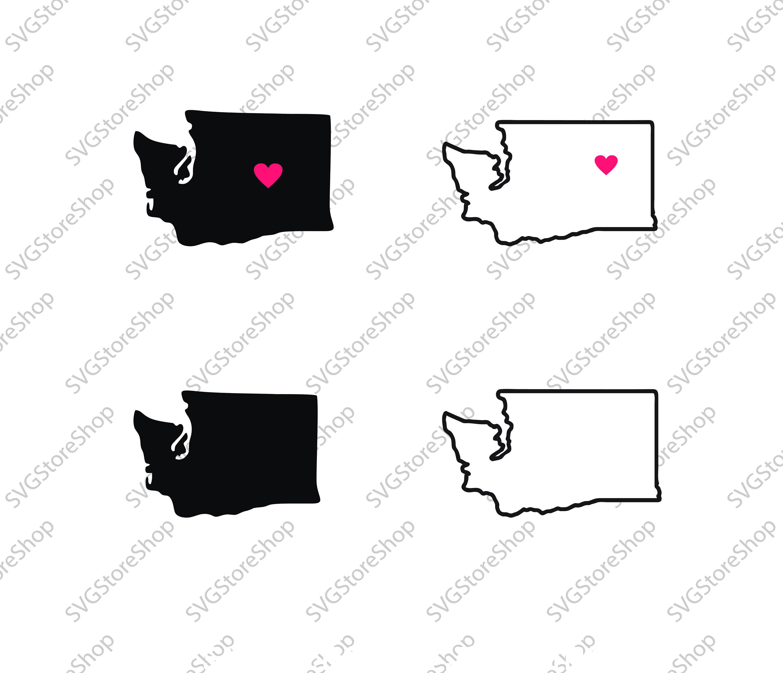 3000x2578 Washington Vector State Clipart Washington Clip Art Etsy