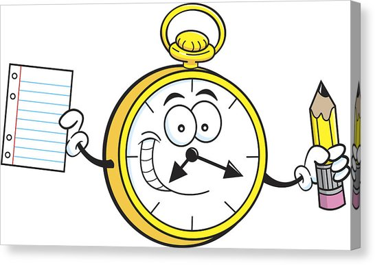 546x387 Cartoon Watch Holding A Paper And Pencil