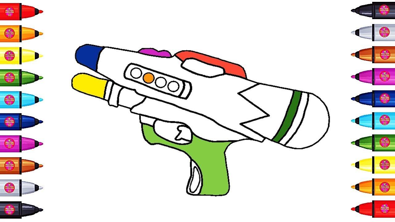 1280x720 colorful water gun coloring pages drawing water gun coloring