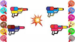 320x180 skachat water gun coloring pages for kids drawing videos water gun
