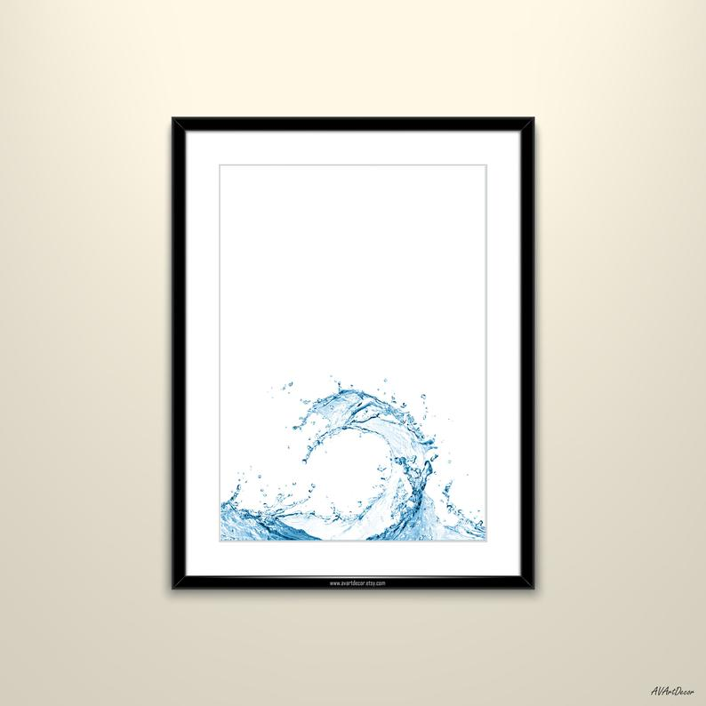 794x794 water splash art print art water wall art liquid printable etsy