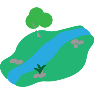 300x300 basic stream with basic tree clipart, cliparts of basic stream