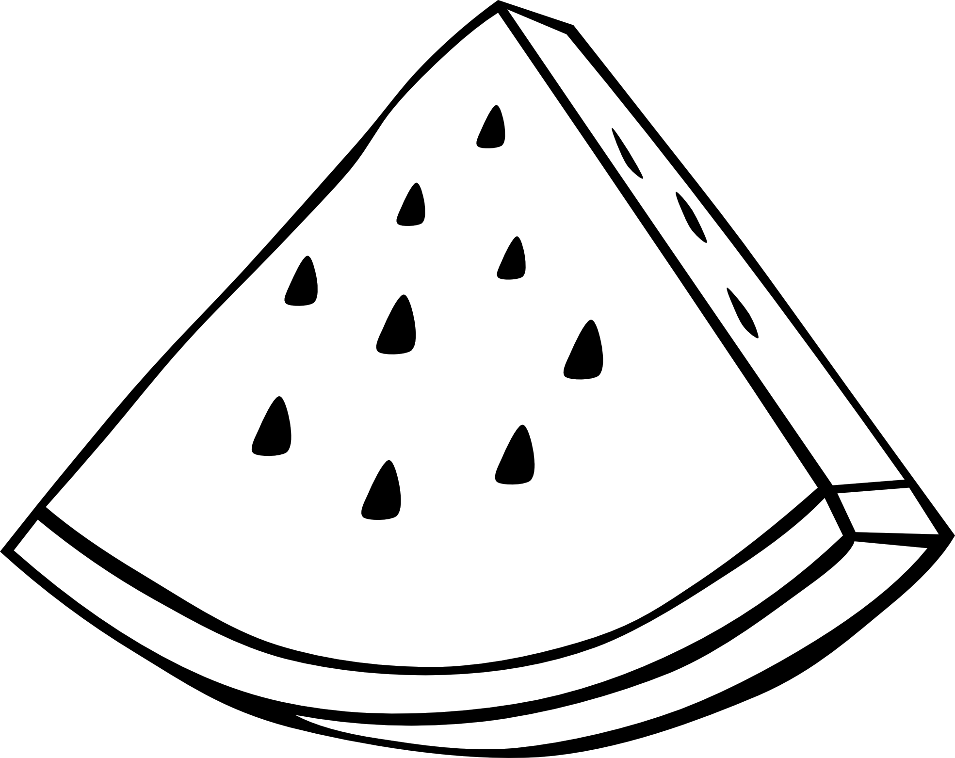 Watermelon slice drawing free download best watermelon