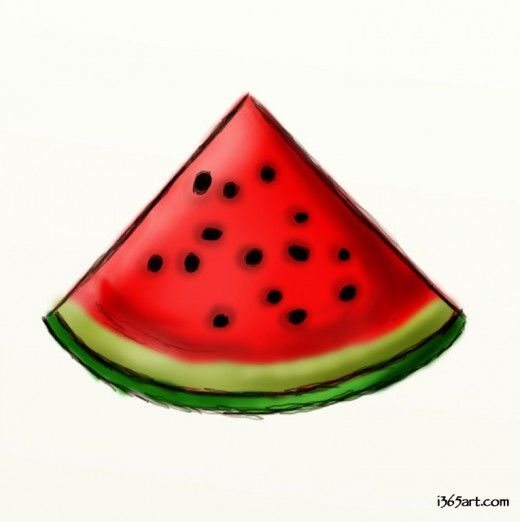 520x522 how to draw a watermelon clipart and things watermelon