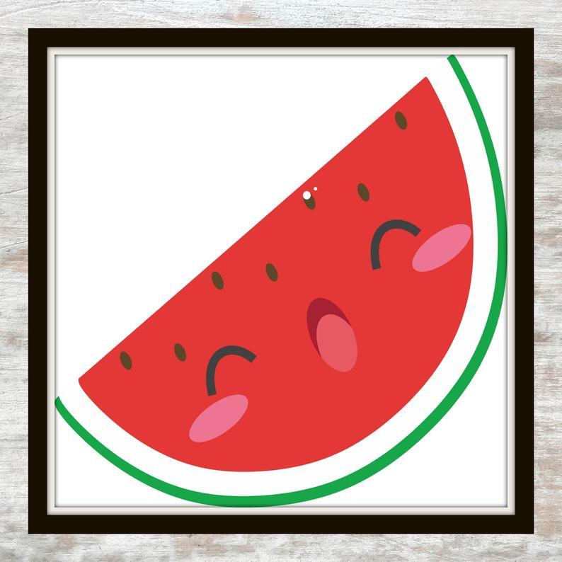 794x794 watermelon printable watermelon illustration watermelon etsy