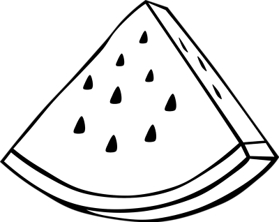 Watermelon Slice Drawing
