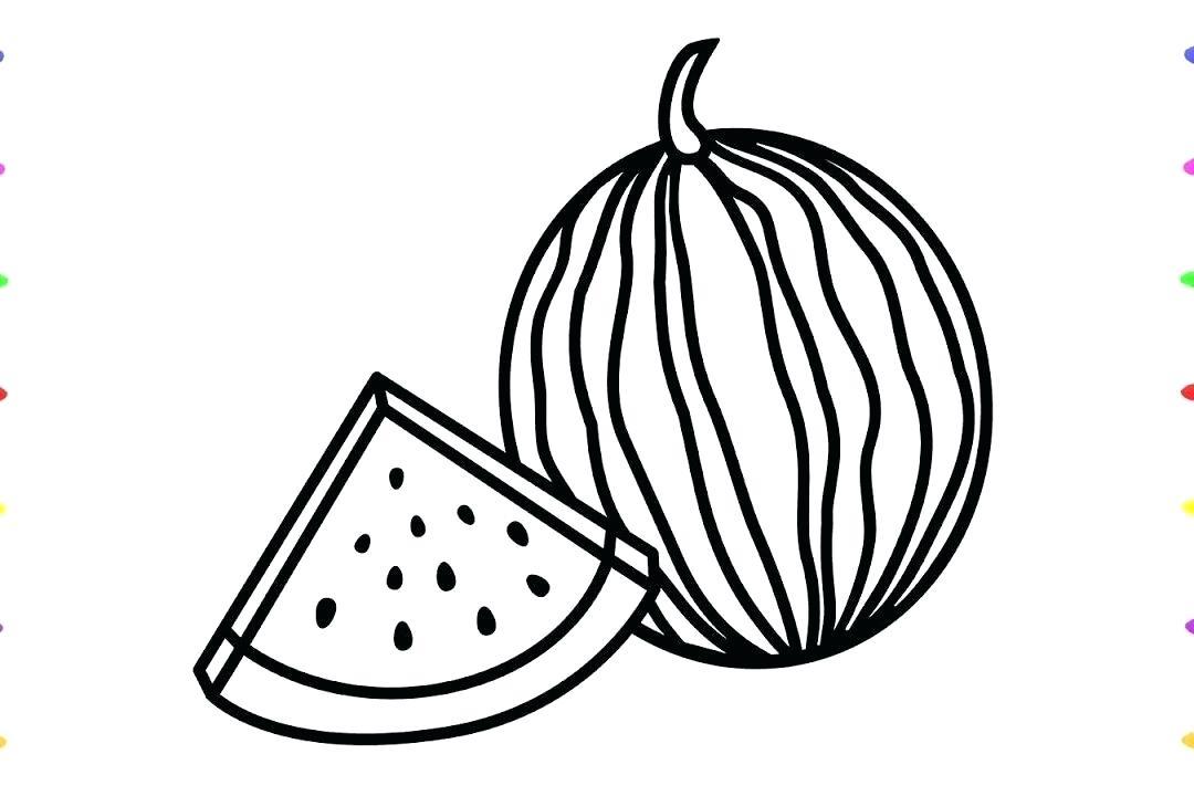 1080x720 how to draw watermelon draw watermelon fruit