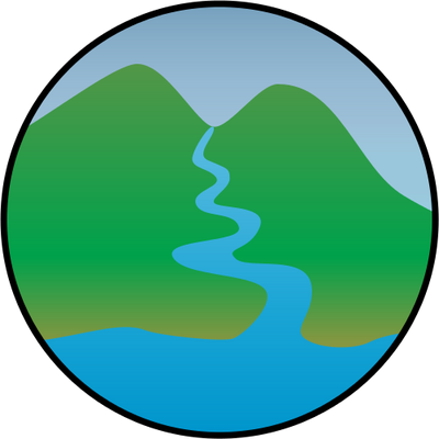 400x400 watershed management illustration of watershed management symbol