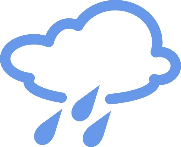 600x488 Rainy Weather Symbols Clip Art Free Vector In Open Office Drawing