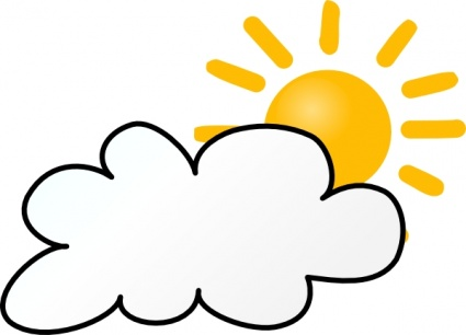 425x306 Sunny Weather Symbols Clip Art Free Vector In Open Office Drawing