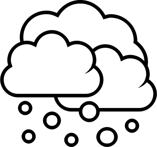 500x470 Black And White Weather Forecast Icon For Snow Vector Drawing