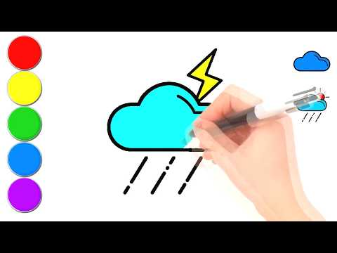480x360 Coloring Weather Icons Painting And Drawing For Kids