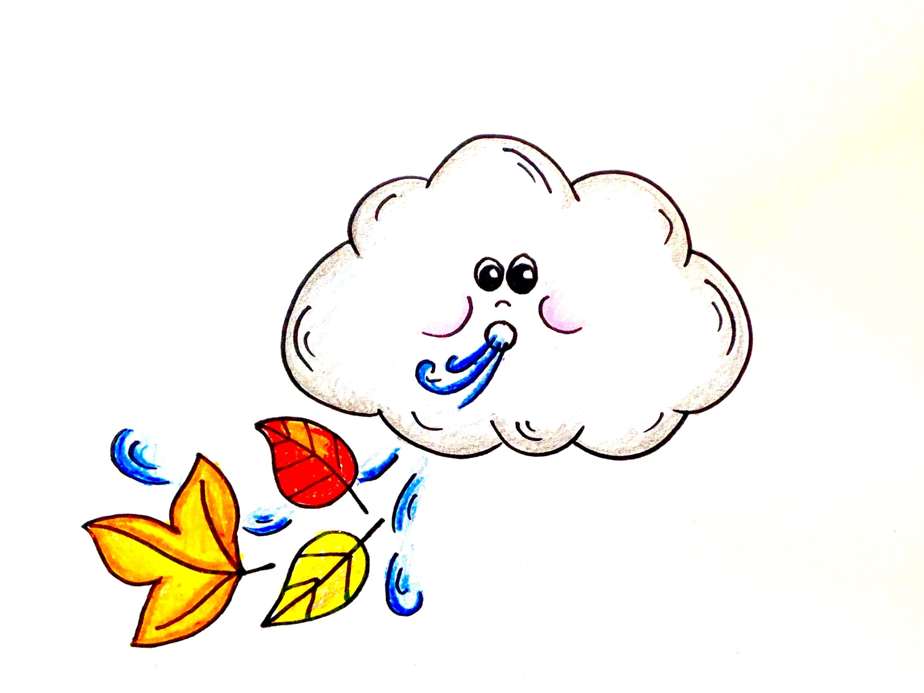 3071x2303 Drawing Lesson How To Draw A Windy Day Cloud Grab Paper, Crayons