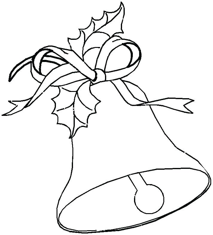 712x785 christmas bell coloring pages full size of bell colouring pages