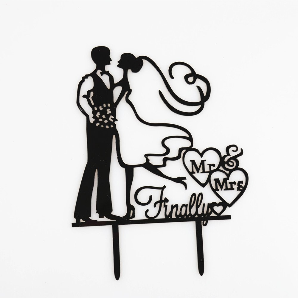 1000x1000 finally mr mrs wedding cake topper wedding cake decorations