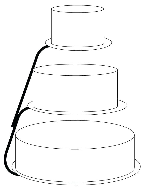 611x800 unique wedding cake drawing template and wedding cake drawing