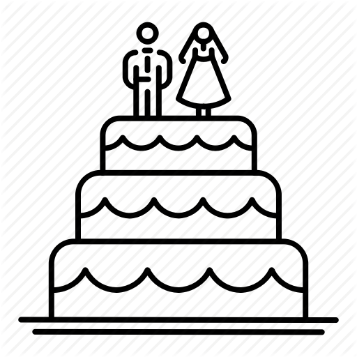 512x512 bride, cake, dessert, groom, wedding, wedding cake icon
